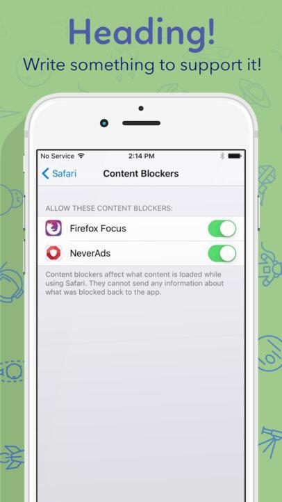 Half iPhone 7 Pink To The Left iOS Screenshot Builder