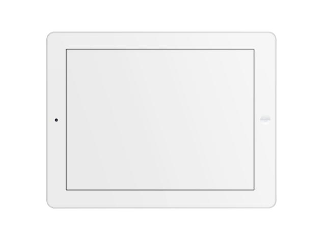 placeit ipad mockup of white ipad with clear background