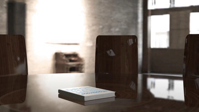 Video Mockup of a Book Lying on a Wooden Table a16258