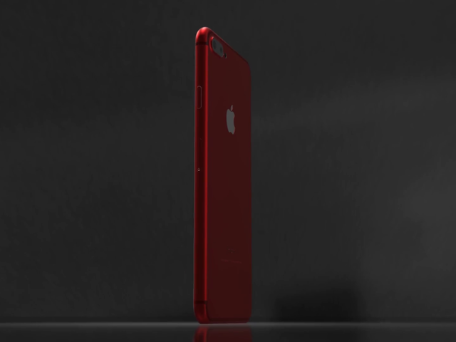 White and Red iPhone 7 Video Inside a Dark Room a16352