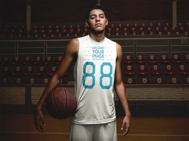 Placeit Basketball Jersey Maker Portrait Of A Teen