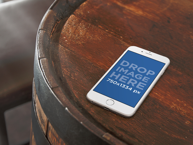 iPhone 6 On Top Of Barrel