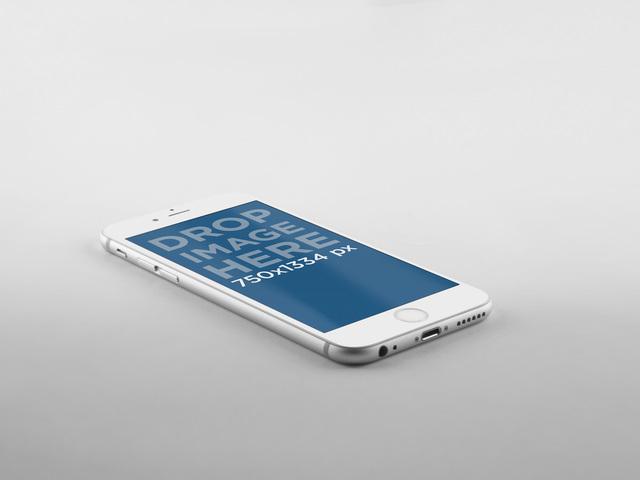 White iPhone 6 Grey Background