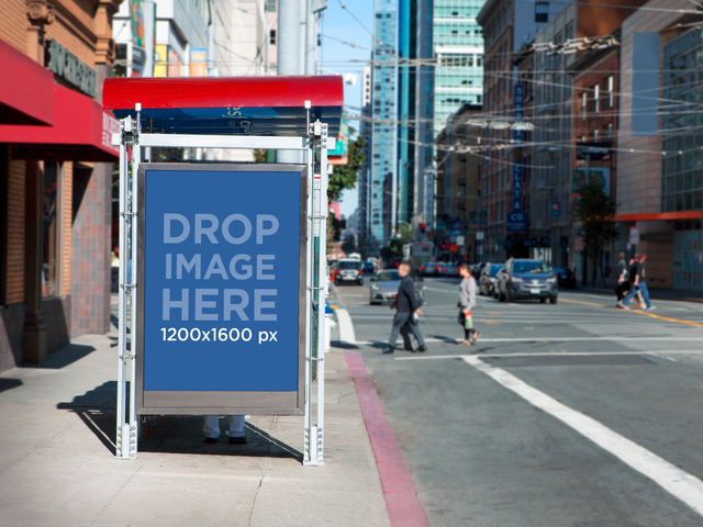 Placeit - Bus Stop Ad Mockup