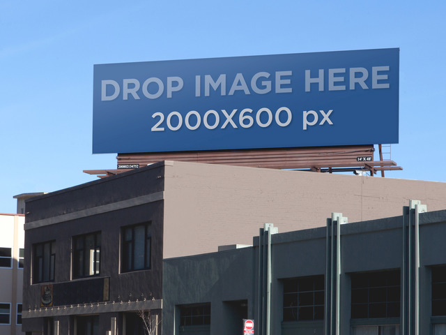 Billboard On Top Of A Building