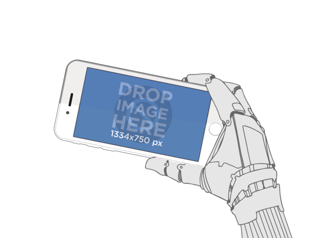 Robot Hand Holding iPhone