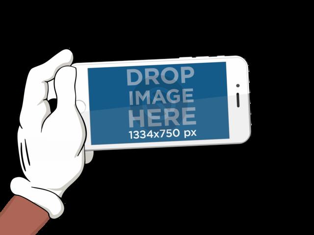 iPhone 6 Cartoon Hand