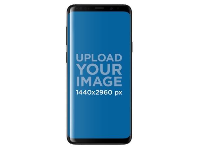 Placeit - Galaxy S9 Plus Mockup Template Against a