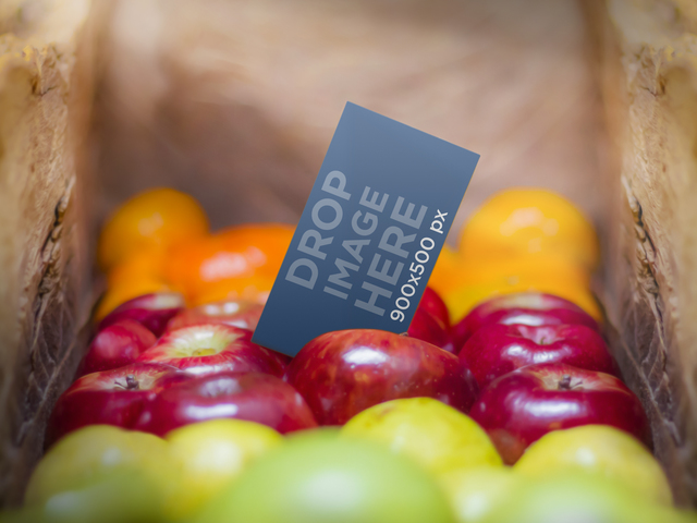 Business Card On Fruits