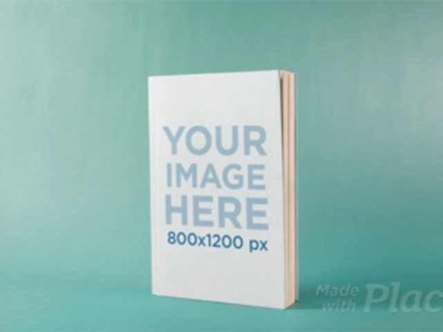 Book on a Green Room Moving in Stop Motion Mockup a13675