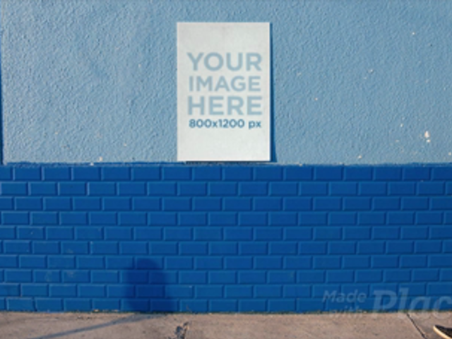 Stop Motion of a Poster Hanging on a Wall While a Man Walks By a13657