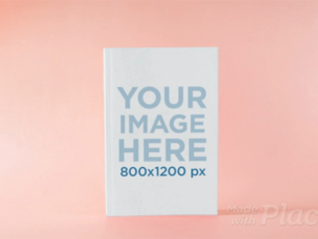 Close Up in Stop Motion of a Book in a Pink Room a13674