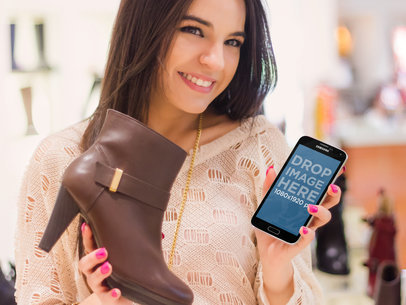 Samsung S5 Shopping Shoes
