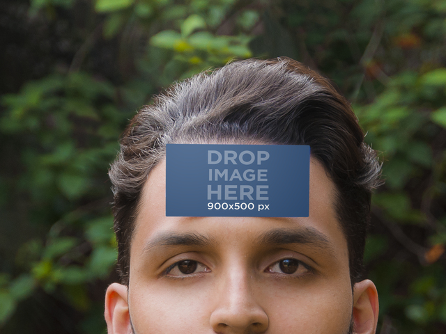 Business Card On Forehead