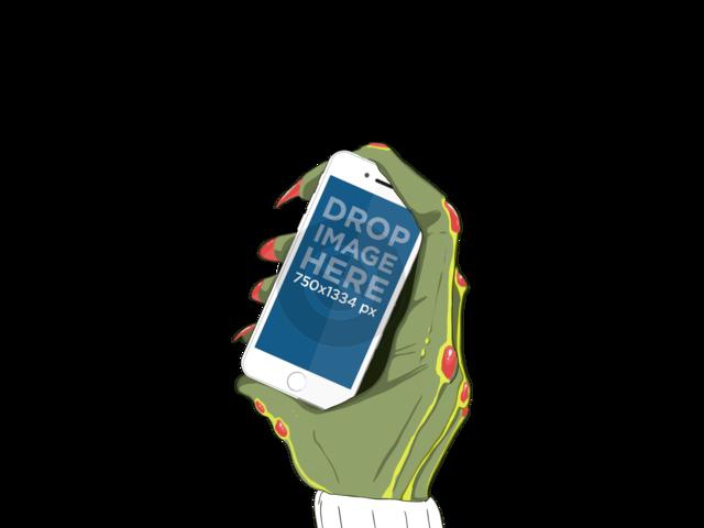 iPhone On Alien Hand