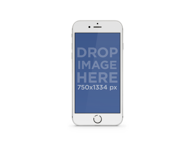 iPhone PNG Mockup of Portrait White iPhone 6 with Different Backgrounds Placeit Stage Image