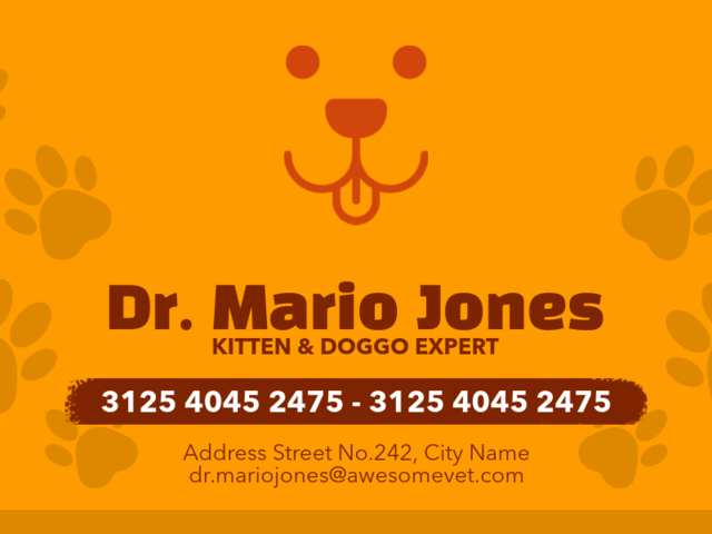Placeit Veterinarian Business Cards Maker
