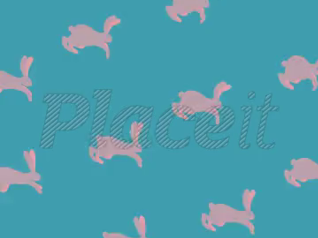Vertical Text Animation Maker with Jumping Rabbits a148