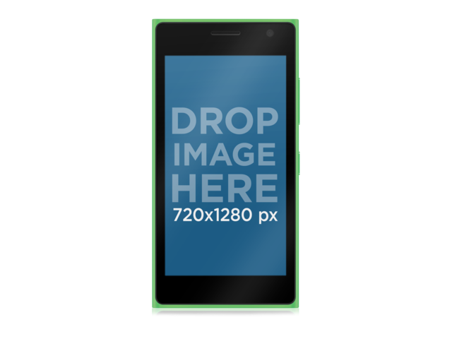 Green Nokia Lumia 730 PNG Over Clear Background Mockup Placeit Stage Image