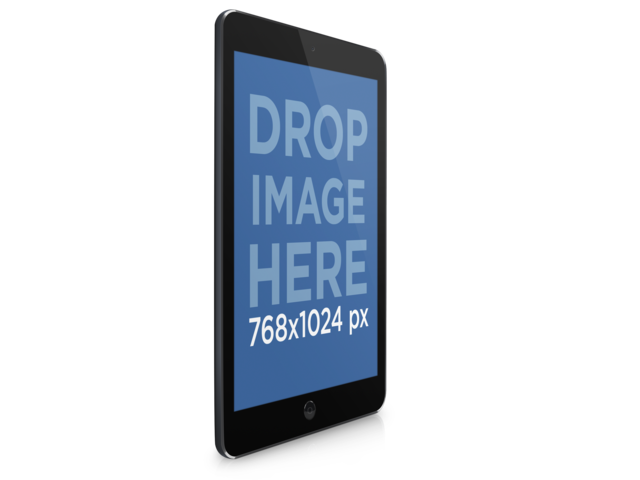 iPad PNG Mockup of Angled Black iPad With Clear Background Placeit Stage Image