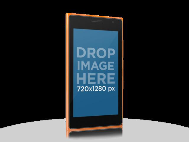 Angled Orange Nokia Lumia 730