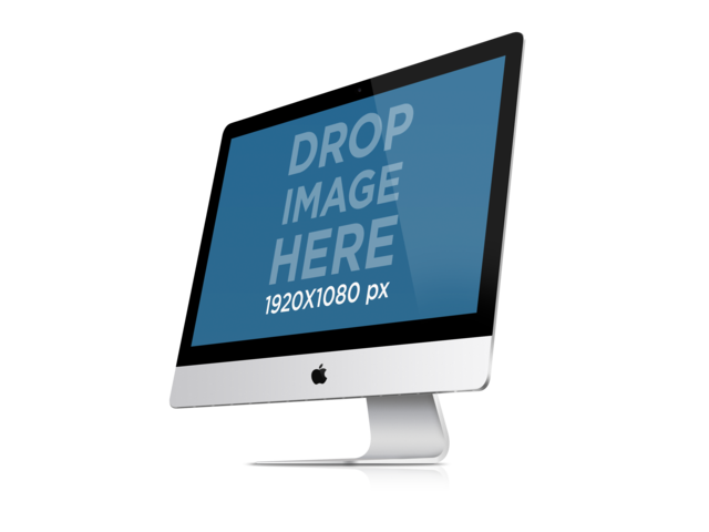 iMac PNG Mockup of Angled iMac Over a Clear Background Placeit Stage Image