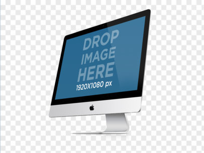 Angled iMac With Clear Background