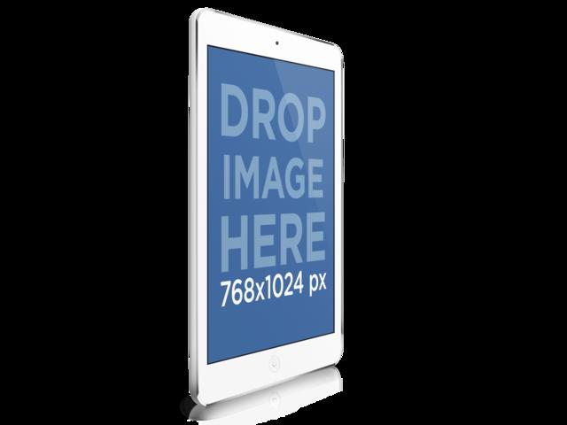 Angled White iPad
