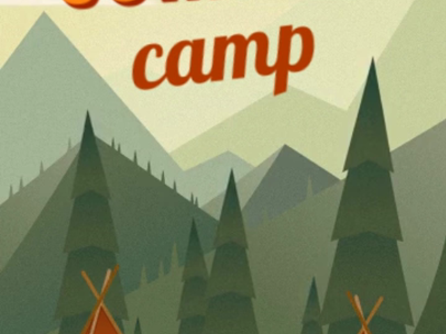 Text Animation Maker for Instagram Stories with Camping Graphics a195