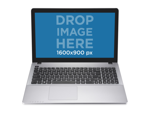 PC PNG Mockup of Silver Laptop Over Transparent Background Placeit Stage Image
