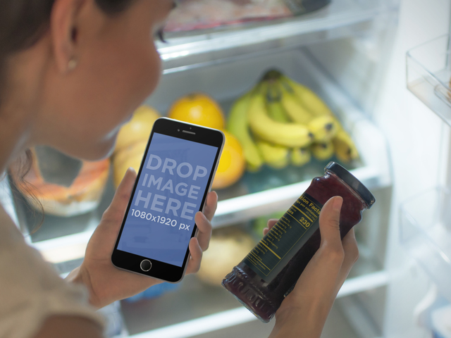iPhone 6 Mockup Open Fridge