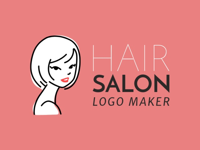 Placeit Hair Salon Logo Maker With Line Art