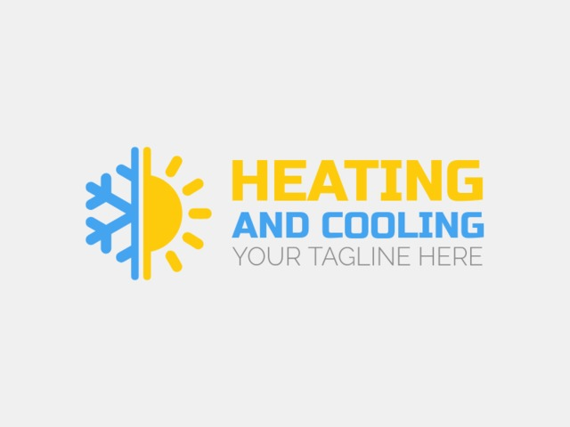 Placeit Hvac Logo Maker With Sun And Snowflake Icon