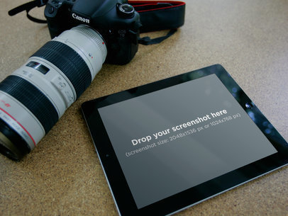 Black iPad Professional Photo Camera