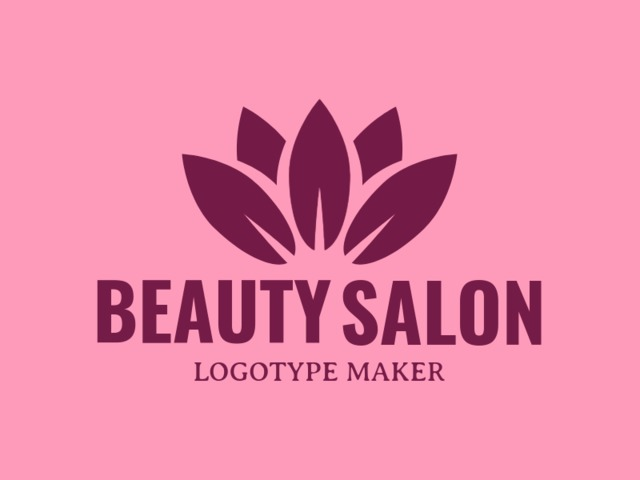 Placeit Beauty Salon Logo Maker With Lotus Flower Clipart