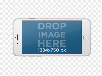 iPhone 6 Stock Photo Template With Transparent Background