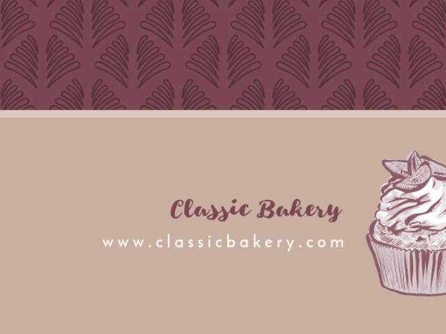 Placeit bakery business card maker for cupcake bakery reheart Image collections