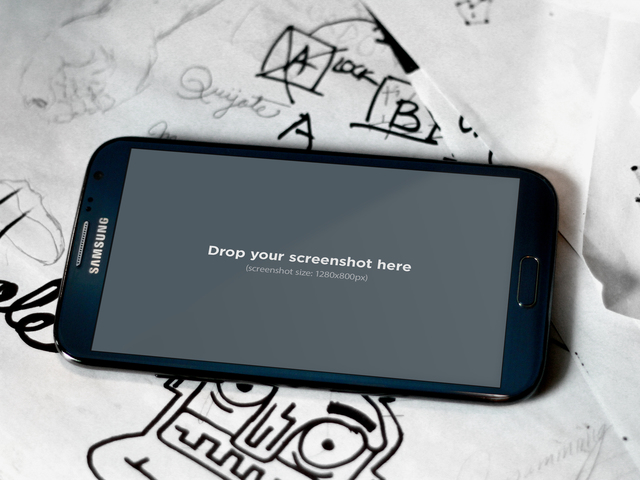 Black Samsung Galaxy Note Drawing