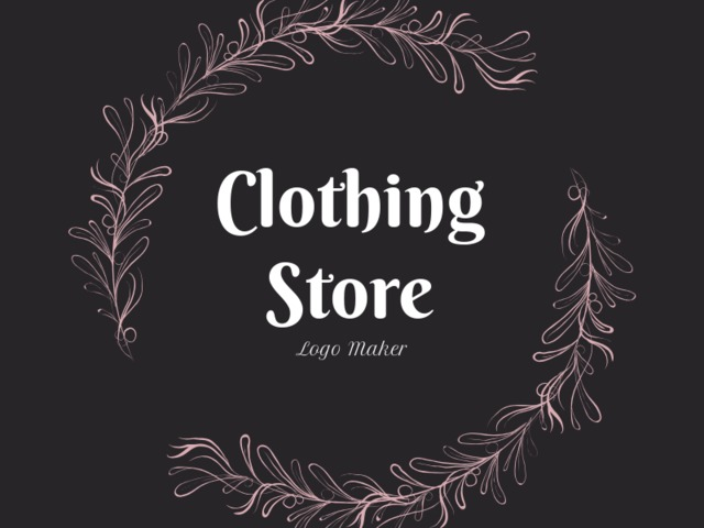 42af2fce3cc0e0 Placeit - Vintage Clothing Store Logo Maker with Flower Garland