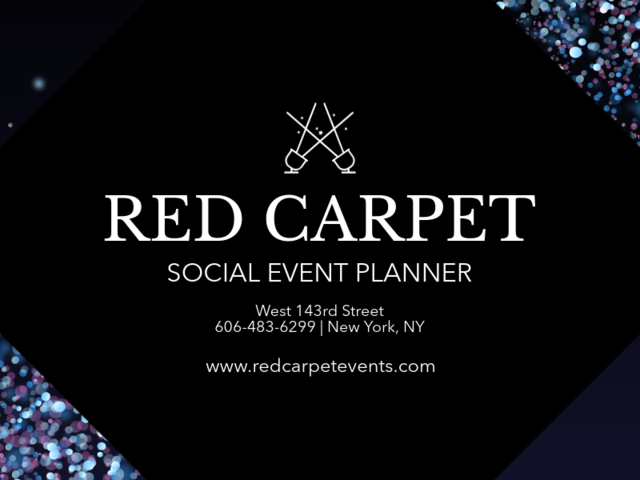 Placeit Business Card Maker For An Event Planner