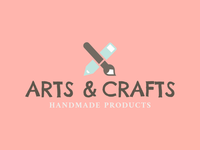 Placeit Handmade Arts And Crafts Logo Design Template
