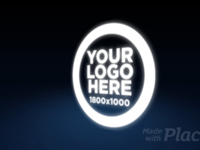 Logo Animation - Logo Floating Over Blue Halo 10