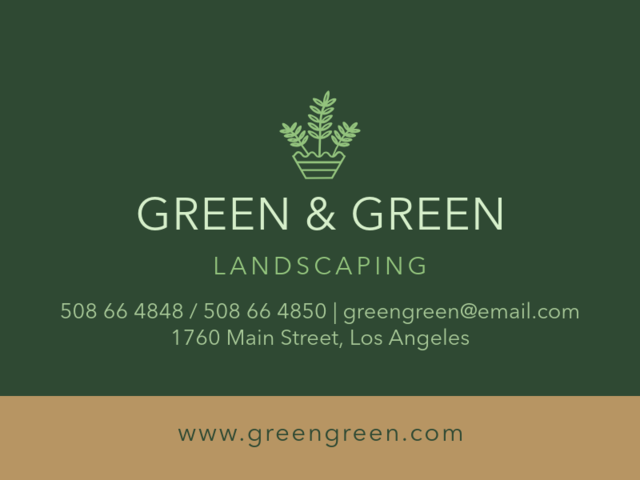 Placeit Online Business Card Creator For Landscaping Businesses