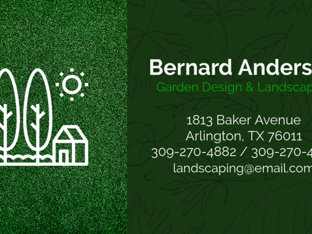 Placeit Business Card Template For Garden And Landscaping
