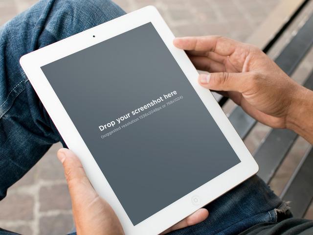 White iPad 2 Sitting Park
