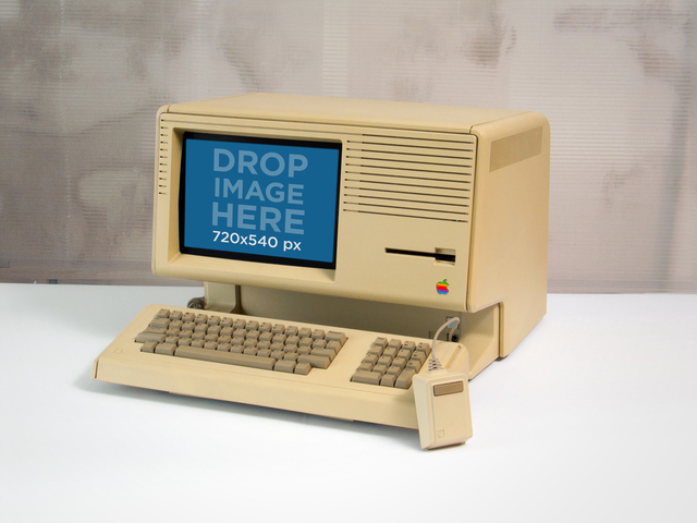 Vintage Mockup of an Apple Lisa Computer Placeit Stage Image