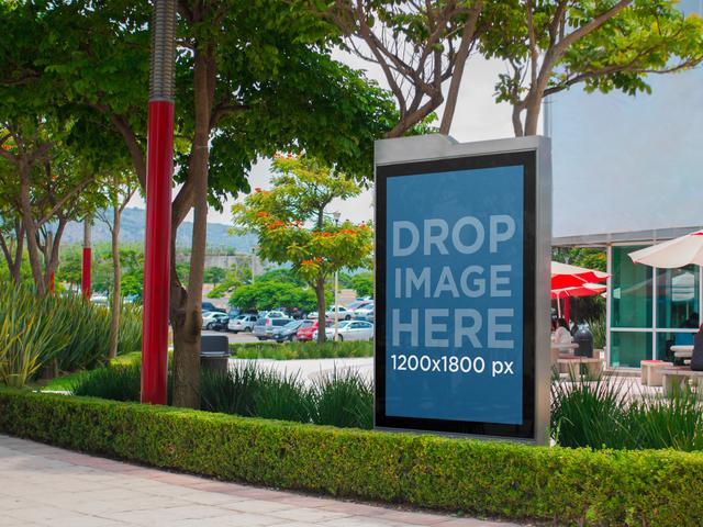 Billboard Mockup at a University a4654