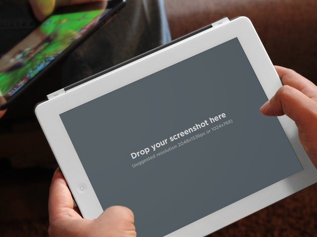 Playing Games White iPad Horizontal