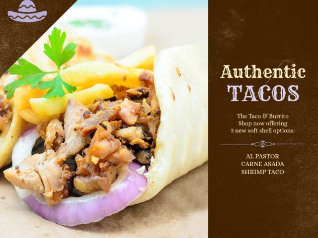 Vinyl Banner Design Template For A Taco Place