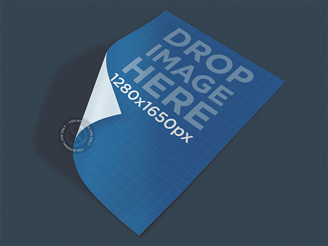 Poster Mockup Lying on Top of a Smooth Surface a5890
